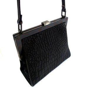 GIANFRANCO FERRE Quilted Nylon Leather Crossbody